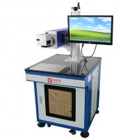 Buy cheap CO2 Laser marking machine for PU/leather/wood/bamboo, Laser printing machine for pen logo from wholesalers