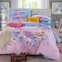 Quality colorful floral bedding set, printed bedding set,3d beddings for sale