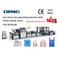 Quality High Speed Ultrasonic Sealing Non Woven Bag Making Machine Approved CE for sale