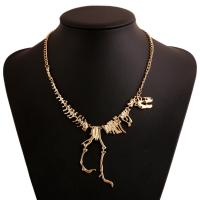Best OEM/ODM acceptable factory alloy new design gold chain dinosaur necklace wholesale