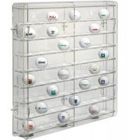 China acrylic golf ball display case large plexiglass display cabinet for golf ball wholesale display case on sale