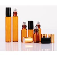 Quality Custom Cosmetic Empty Roll On Bottle 10ml Clear Glass For Perfume Essential Oil for sale