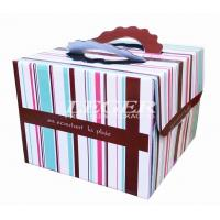 China OEM Corrugated Cardboard Boxes , Custom Birthday Cake Box with carry handles on sale