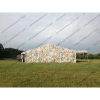 Quality Camouflage Roof Cover Military Surplus Canvas Tent Aluminum Structure For Army Training Base for sale