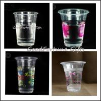 China Eco printed logo customed Advertising one time coffee water Disposable Plastic Cup on sale