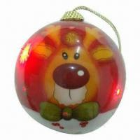 China LED Christmas Ball with LED Light and Diameter of 100mm on sale