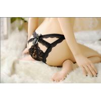 China Sexy G string black lace panties on sale