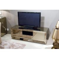 China Popular Hotel Mirrored Glass TV Cabinet , Black Mirrored Corner TV Cabinet on sale