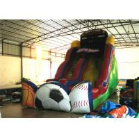 Quality Exciting Inflatable commercial dry slide football sport games themed inflatable standard slide for sale