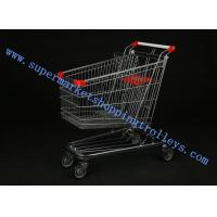 China Durable Exhibition Steel Supermarket Shopping Cart , 100L Modern Shopping Cart on sale