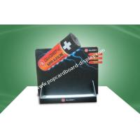 Quality Supermarket Promotion Black Cardboard Countertop Displays Customized for sale