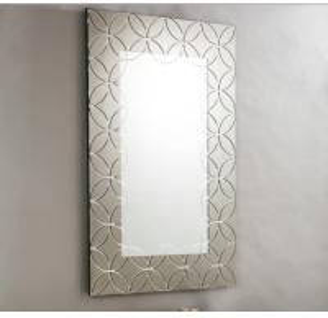 Quality Plain Edge Framed Rectangle Glass Mirror For Living Room 600*900*15mm for sale