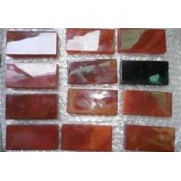Quality Black agate and carnelian small tile for sale