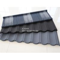 Quality Colorful Stone Chip Coated Metal Roof Tiles / Galvalume Steel Roof Tile Sheets for sale