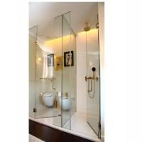 China 10mm 12mm clear safety tempered glass shower screen unite price in China on sale