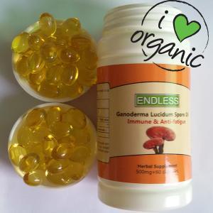 China 500 mg immune & Anti-fatigue anti-cancer best organic herbal medicine ganoderma lucidum spore oil capsule on sale