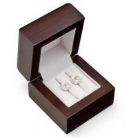 Buy Eco Friendly Jewelry Wooden Box Food Grade Lacquer For Wedding Double Rings at wholesale prices
