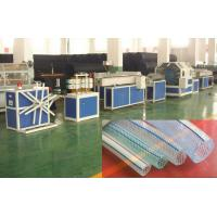 Quality Single - Screw Plastic Pipe Extrusion Line For Producing PVC Fiber Enhancing Hose for sale
