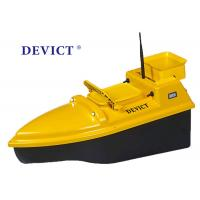 Quality Yellow Rc Boat With Fish Finder , DEVC-103 Remote Control Bait Boat 4 class product for fishing for sale