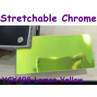 Quality Stretchable Chrome Mirror Car Wrapping Vinyl Film - Chrome Lemon Yellow for sale