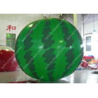 Quality Custom Durable 1.8mm PVC Watermelon Grand Opening Balloons With Silk Printing for sale