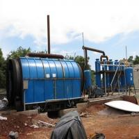 China Energy-saving Waste Tire Oil Pyrolysis Plant with 35%-65% crude oil yield on sale