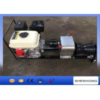 Quality Steel Gas Engine Powered Winch 1 Ton With Axle Bar Driven Tranmission for sale