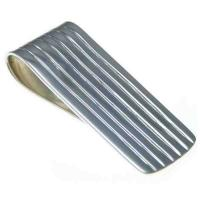 China Striped Sterling Silver Money Clip,OEM/ODM service on sale