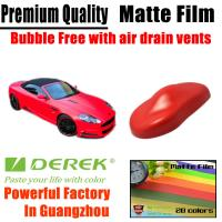 Quality Matte Car Wraps Vinyl Film - Matte Red Car Wrapping Film for sale