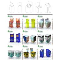 cardboard advertising display stands,floor standing display units, retail advertising carton display for candy