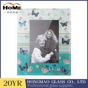 Quality Digital Print 5x7 Glass Photo Frames , BeautifulGlass Picture Photo Frame for sale