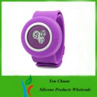 China Colorful Silicone Strap Watches, Slap Silicon Watch For Hour / Minute / Second Display on sale