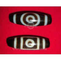 Quality One-eyed Dzi with Sky-and-Earth Motif for sale