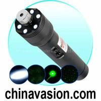 China Ultra Power 200mW Green Laser Pointer + LED Torch Light on sale