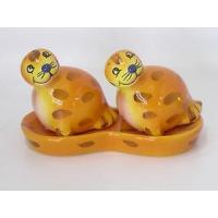 China Sea Lion Ceramic Ceramic Sea Lion Salt & Pepper with Tray on sale