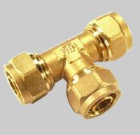 Quality Compression fittings for pex pipe Tee for sale