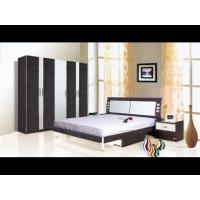 China Black and white oak wood king queen modern sleigh bedroom sets supplier on sale