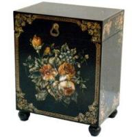 Small Chest with Hand-Painted Flowers Design