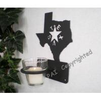 China Houseware Accessories Rustic Western TEXAS Design Metal Votive Candle Holder(candle include) on sale