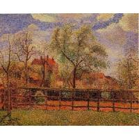 Quality Impressionist(3830) Pear_Trees_in_Bloom,_Eragny,_Morning for sale