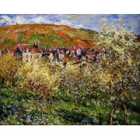 Impressionist(3830) Plum_Trees_in_Blossom_at_Vetheuil