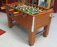 Best SOCCER TABLE Zoom Model No: KBP-002TTable Size: 1400 x 750 x 880MMPlaying Field: 1180 x 670 x 108MMPlayers: 5:3:2:1Materials: Solid Wood with mica laminateLegs: 127mm Square legs with 4PCS of 125mmmetal levelersRo wholesale