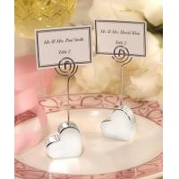 Best Silver Plated Heart Design Place Card Holders[Item# FC5353] wholesale