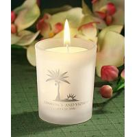 Personalized Frosted glass candle holder with wax[Item# FCPS5863SA49]