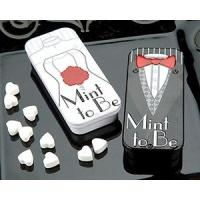 Best 'Mint to Be' Bride and Groom Slide Mint Tins with Heart Mints[Item# KP19002] wholesale