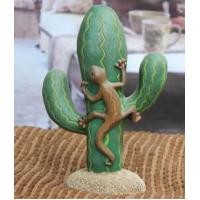 Best Decor Cactus Lizard Statues Polyresin Figurines Resin Crafts Animal Decorations Wholesale wholesale