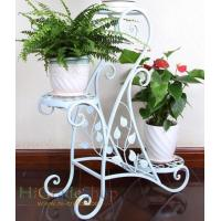 Buy cheap Metal Flower Stand Home Decoration Iron Garden Flower Shelf Metal craft from wholesalers