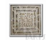 Cheap Paper art Original handmade flower paper art crafts for home wall decoration for sale