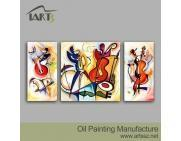 Buy cheap Handpainted Oil Painting Group Oil Painting Design Abstract painting 3 pieces from wholesalers
