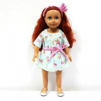 Quality Brown Skin curly hair 18 inch girl toy doll for girls for sale